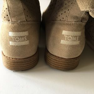 Toms Shoes - Tom's suede boots, size 9.5